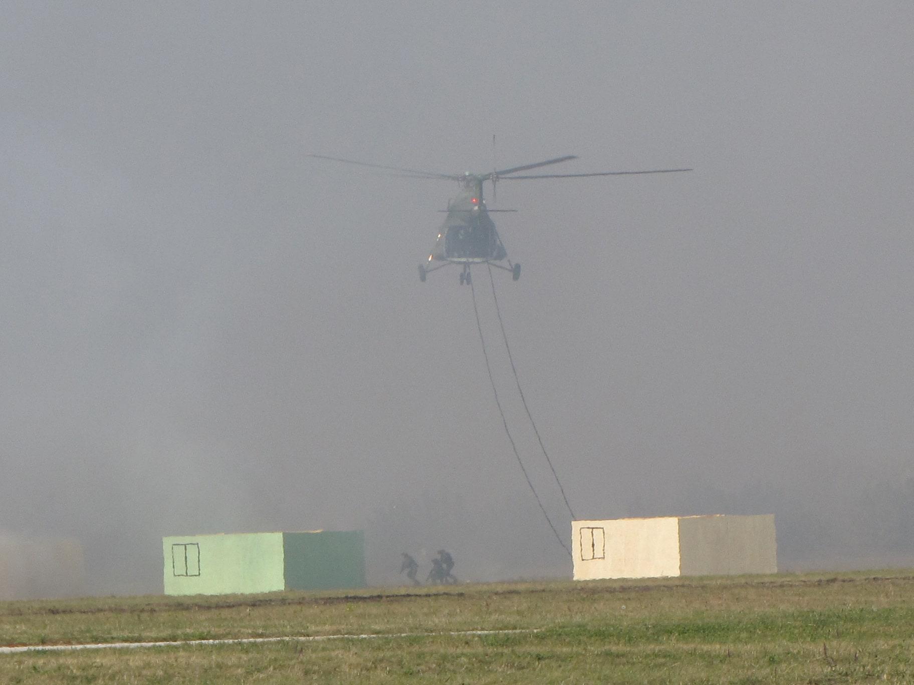 Sloboda 2017 Mi-8 iskrcavanje