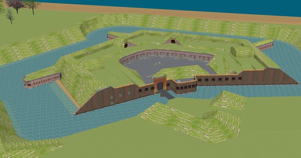 Baltijsk fort  zapadnyj-3D