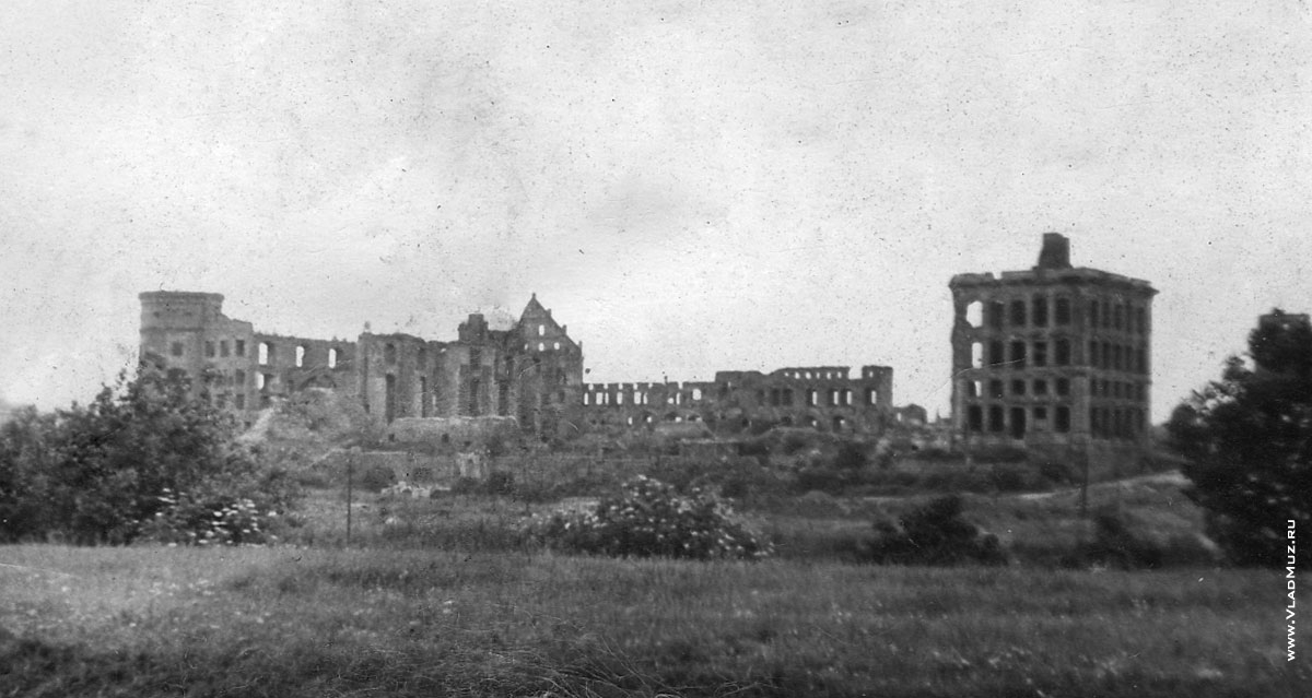 Konigsberg  castle after WW2