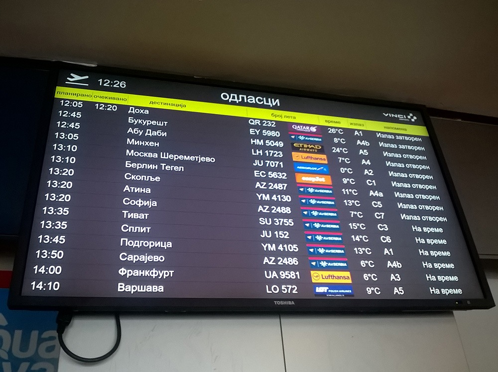 Belgrade_Airport_Display