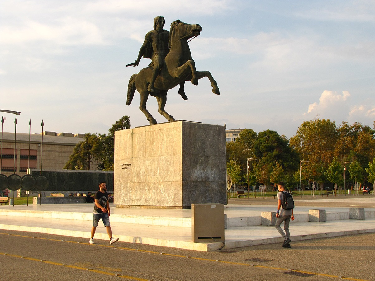 Alexander the Great monument Thessaloniki