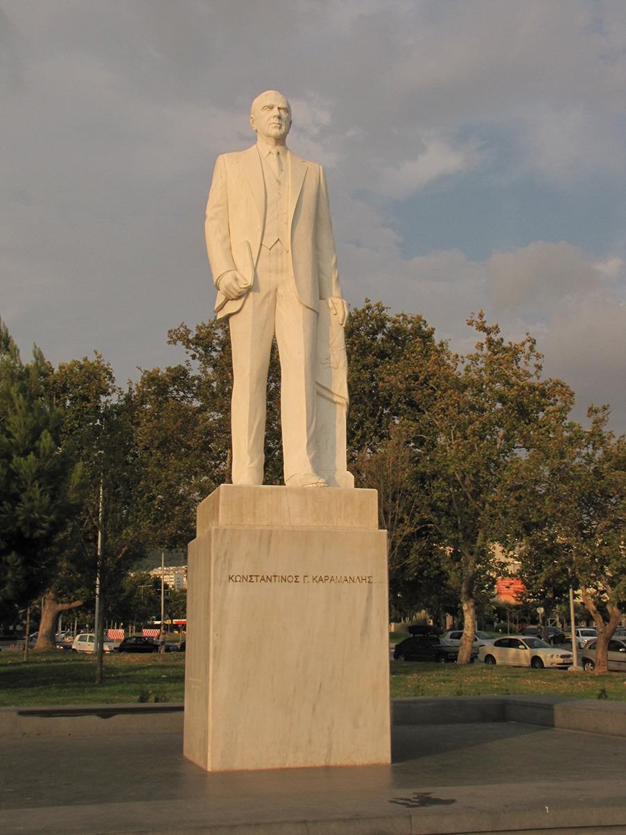 Statue of Konstantinos Karamanlis in Thessaloniki