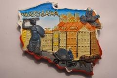 Souvenir magnet Warsaw
