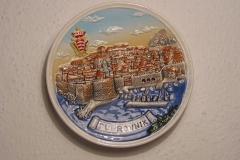 Souvenir plate Dubrovnik