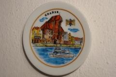 Souvenir plate Gdansk