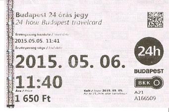BudimpeštaDnevna karta za gradski prevoz