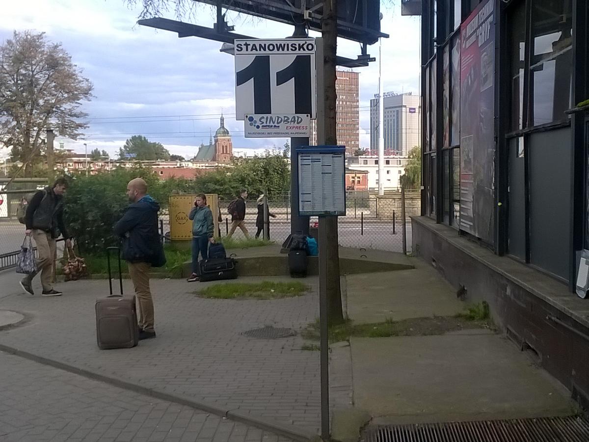 Gdansk bus station platform 11