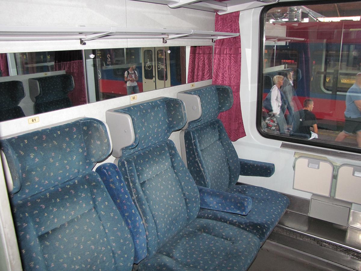 Train 344 Avala MAV coach compartment