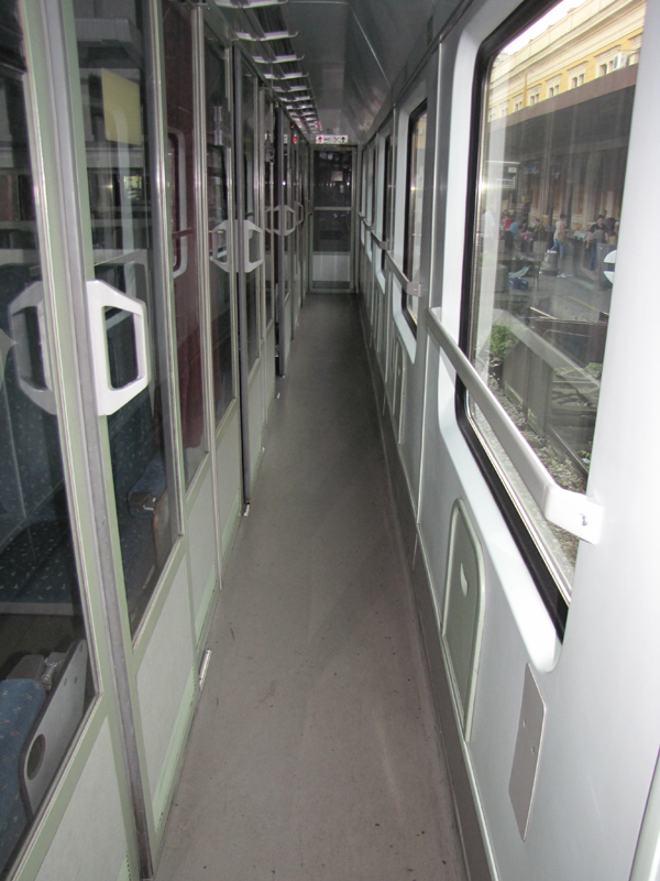 Putovanje u Sankt Peterburg Train 344 Avala MAV coach corridor