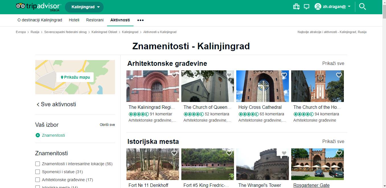 Trip Advisor Kaliningrad
